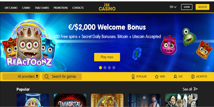 Play casino games now